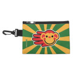 Hand shaped Happy Red Monkey Smiley Face Accessory Bags