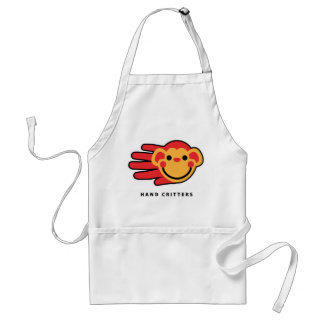 Happy Red Monkey Smiley Face Adult Apron