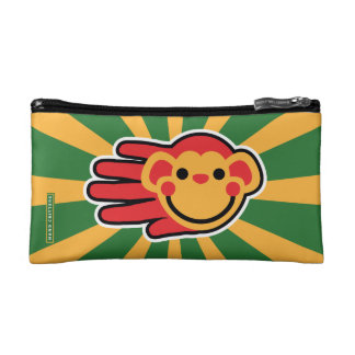 Happy Red Monkey Smiley Face Makeup Bag