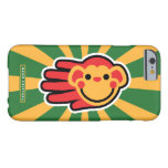 Hand shaped Happy Red Monkey Smiley Face Barely There iPhone 6 Case