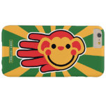 Hand shaped Happy Red Monkey Smiley Face Barely There iPhone 6 Plus Case