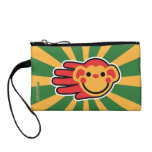 Hand shaped Happy Red Monkey Smiley Face Change Purse