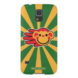Hand shaped Happy Red Monkey Smiley Face Galaxy S5 Case