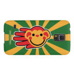 Hand shaped Happy Red Monkey Smiley Face Galaxy S5 Cover