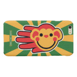 Hand shaped Happy Red Monkey Smiley Face Glossy iPhone 6 Plus Case