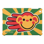 Hand shaped Happy Red Monkey Smiley Face iPad Mini Case
