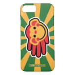 Hand shaped Happy Red Monkey Smiley Face iPhone 7 Case