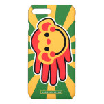 Hand shaped Happy Red Monkey Smiley Face iPhone 8 Plus/7 Plus Case
