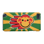 Hand shaped Happy Red Monkey Smiley Face iPod Touch 5G Cover