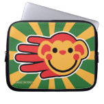 Hand shaped Happy Red Monkey Smiley Face Laptop Sleeve
