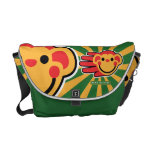 Hand shaped Happy Red Monkey Smiley Face Messenger Bag