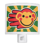 Hand shaped Happy Red Monkey Smiley Face Night Lite