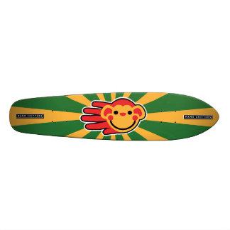 Happy Red Monkey Smiley Face Skateboard Deck