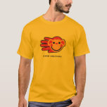 Hand shaped Happy Red Monkey Smiley Face T-Shirt