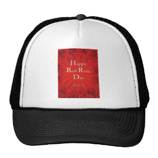 Happy Red Rose Day June 12 Trucker Hat