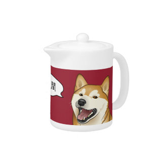 Happy Red Shiba Inu Japanese Dog Teapot