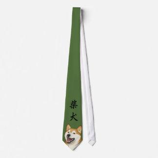 Happy Red Shiba Inu Japanese Dog Tie