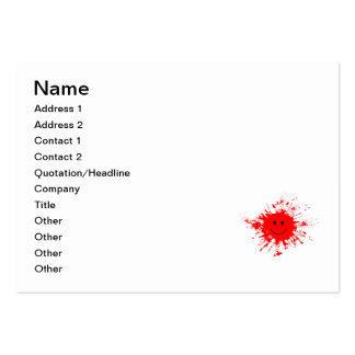 Happy red splatter business cards