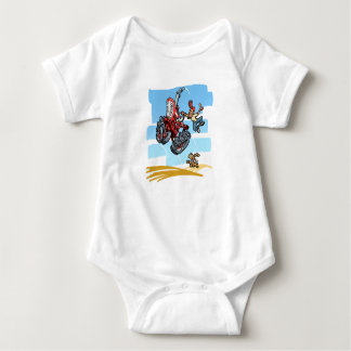 Happy Red Tractor Baby Bodysuit