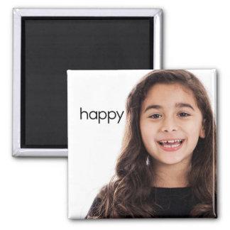 Happy Refrigerator Magnet