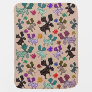 Happy Reindeer Baby Blanket