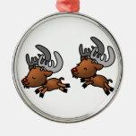 Happy Reindeer Ornament