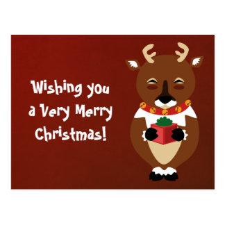 Happy Reindeer Postcard