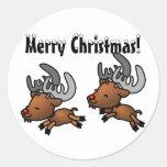 Happy Reindeer Stickers