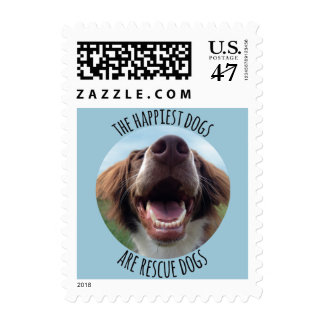 Happy Rescue Dog Postage Stamps