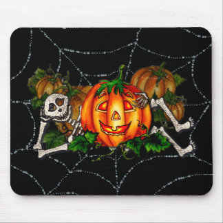 HAPPY RESTING SKELETON & JACK by SHARON SHARPE Mouse Pad