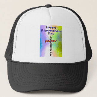 Happy Resurrection Day Trucker Hat