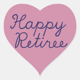Happy retiree heart sticker