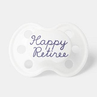 Happy retiree pacifier