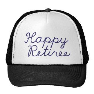 Happy retiree trucker hat