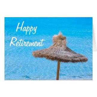 Happy Retirement Beach Umbrella Card