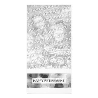happy retirement (bokeh) customized photo card