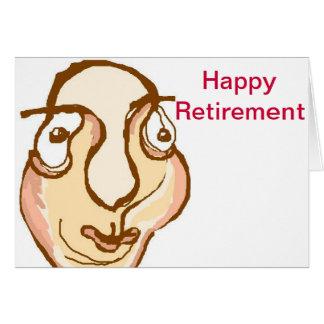 Happy retirement greeting card