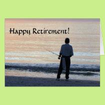 Happy Retirement Card  Fishing