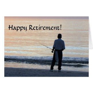 Happy Retirement Card  Fishing