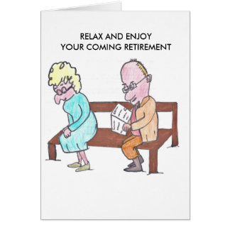 HAPPY RETIREMENT CARD - OLD COUPLE