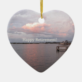 Happy Retirement - Cedar Key Florida Ceramic Ornament