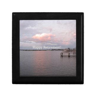 Happy Retirement - Cedar Key Florida Jewelry Box