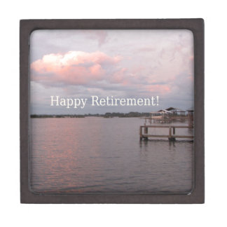 Happy Retirement Cedar Key Florida Jewelry Box