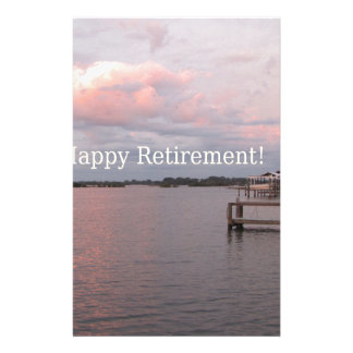 Happy Retirement Cedar Key Florida Stationery