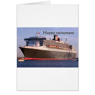 Happy retirement: cruise ship cards