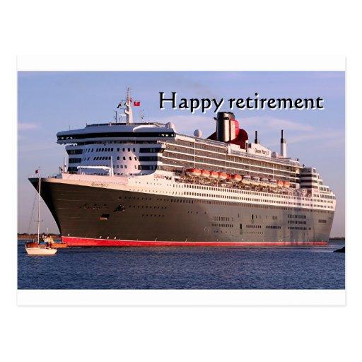 Happy Retirement Cruise Ship Postcard  Zazzle