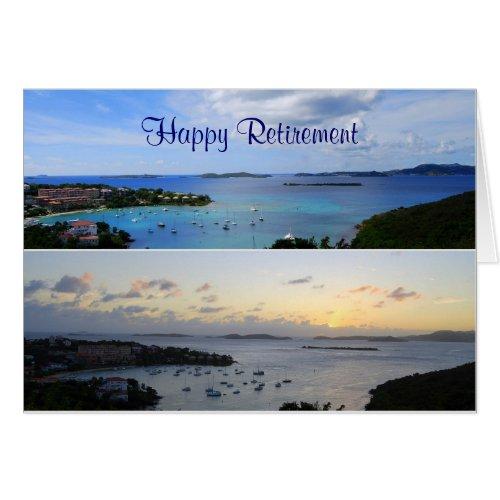 Happy Retirement, Cruz Bay Collage, St. John Card