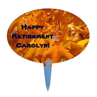 Happy Retirement Custom Name! dessert topper Party