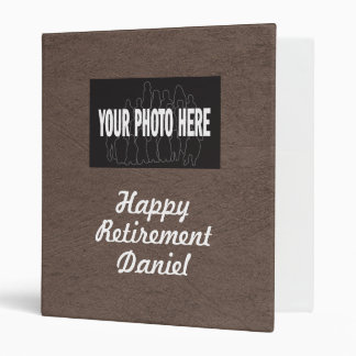 Happy Retirement custom photo memories scrapbook Binder