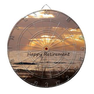 Happy Retirement - Florida Ocean Sunset Dartboard